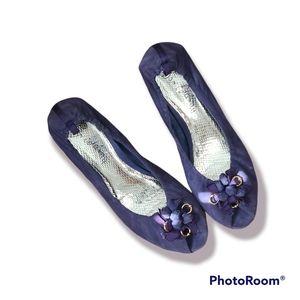 Sam Edelman Lavender suede open front (small heels)